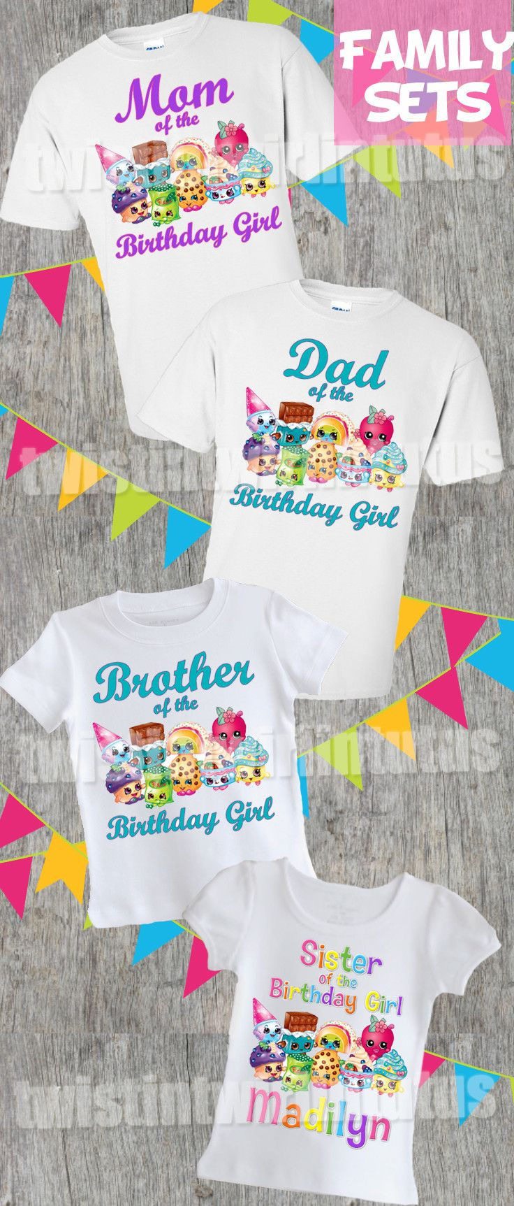 Shopkins Family Shirt Set