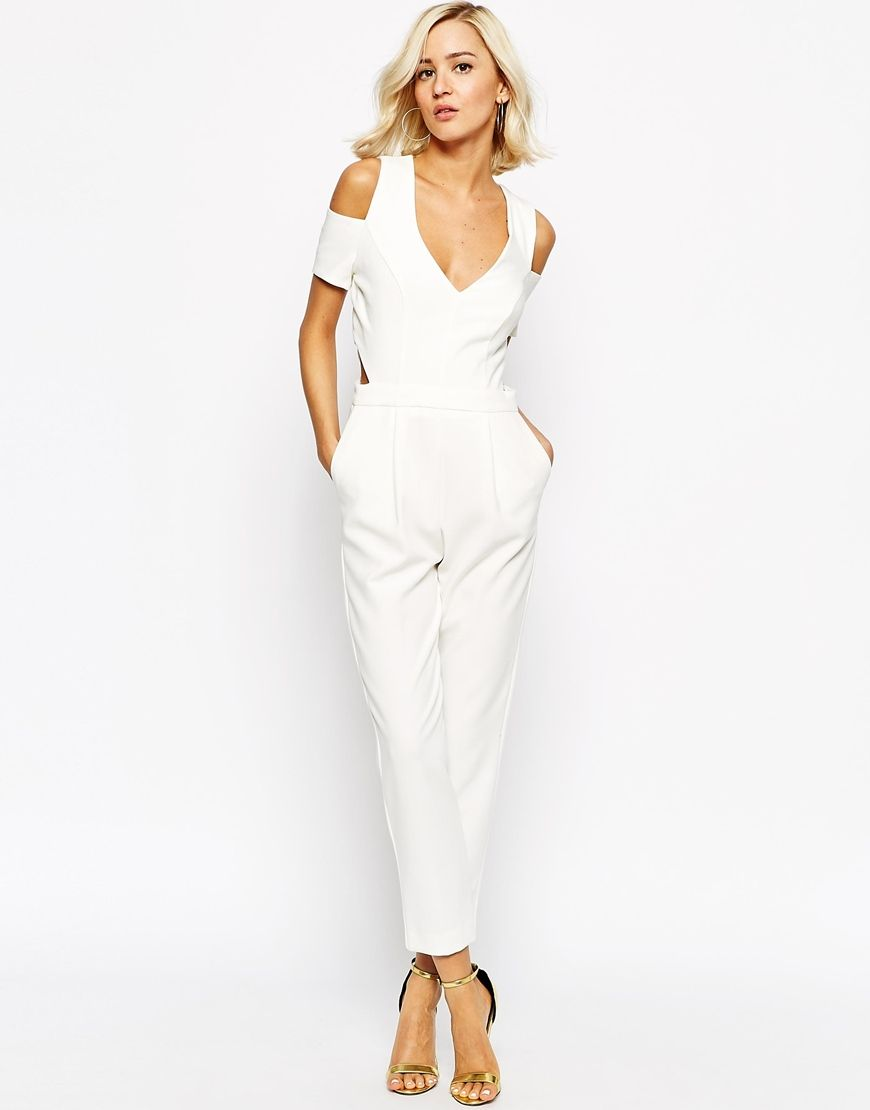 be0ff0825adf Image 1 of River Island Off The Shoulder Jumpsuit