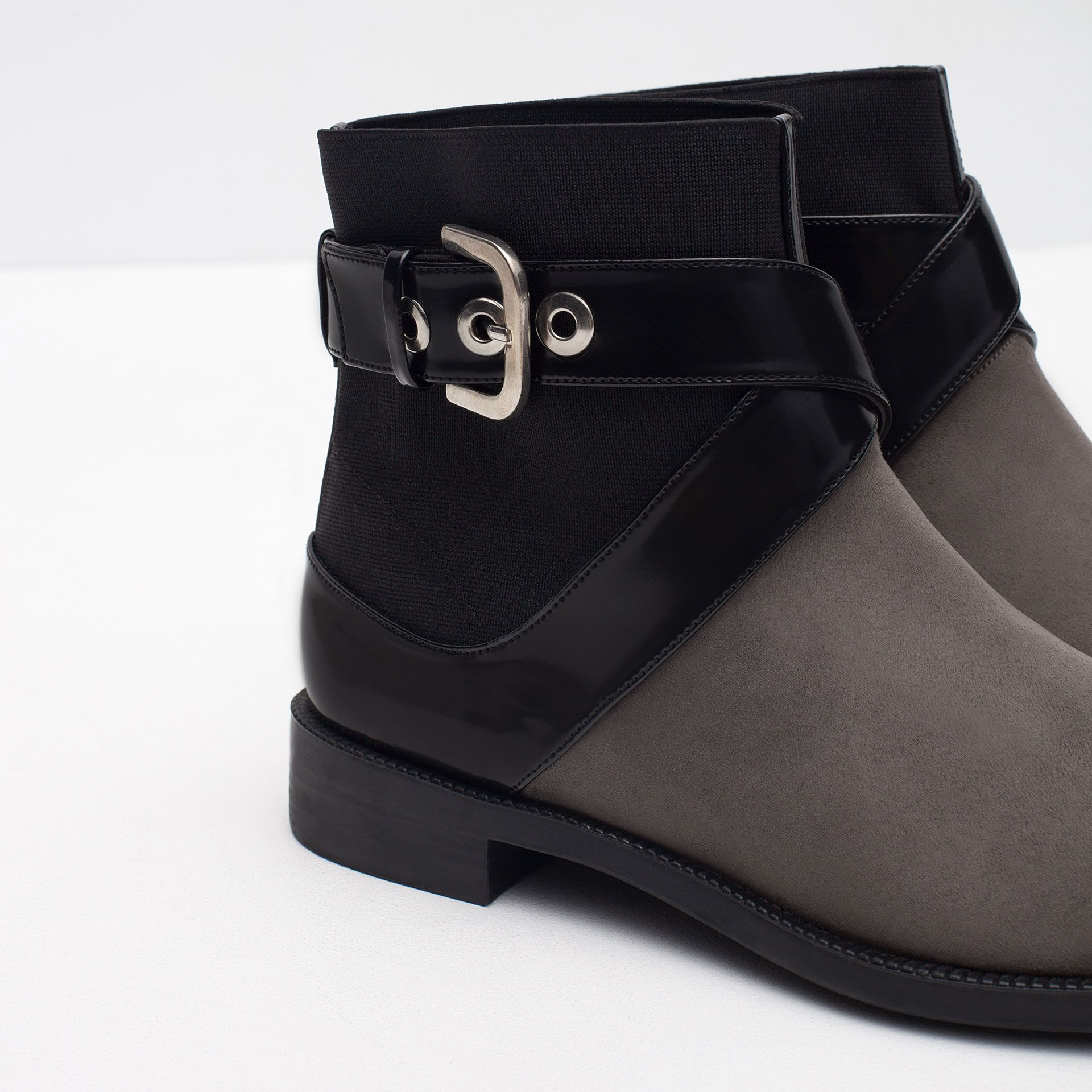 FLAT ANKLE BOOTS WITH BUCKLE Shoes TRF | ZARA Serbia
