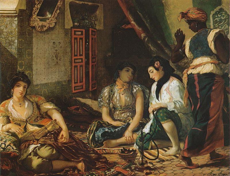 Women of algiers 1834 950px - Eugène Delacroix - Wikipedia, the free encyclopedia