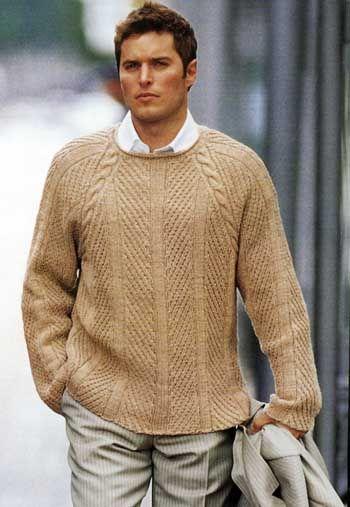 Схема вязания мужского свитера реглан