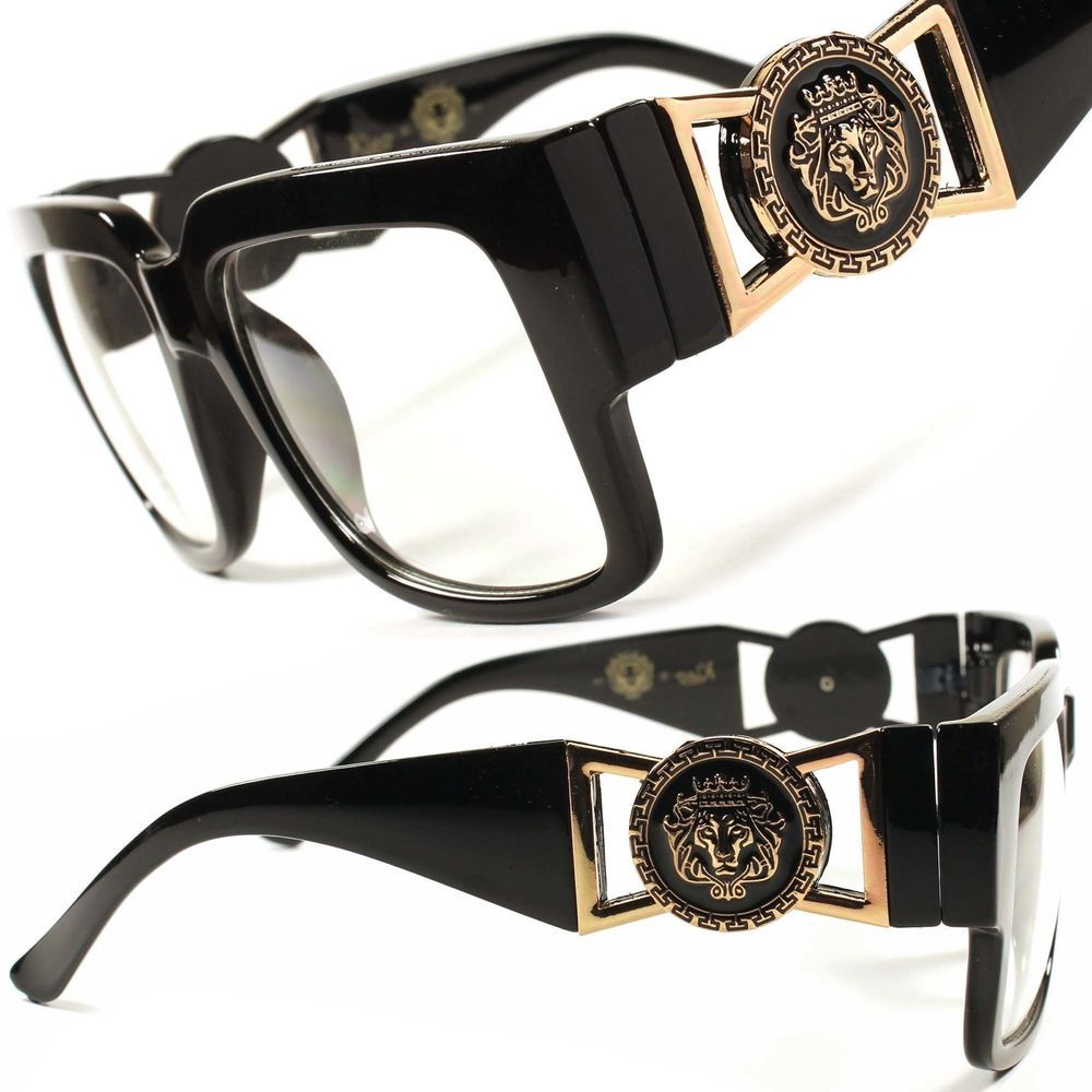 0f84702a1aaba Swag Hip Hop Rich Famous Mens Womens Clear Lens Retro Aviator Glasses Frame  F64  KLEO  Rectangular
