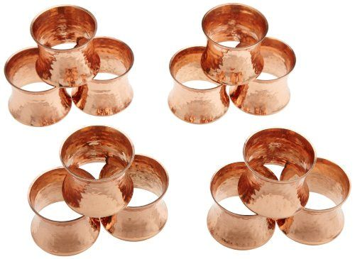 Dii Hammered Copper Napkin Ring Set Of 12 Http Www
