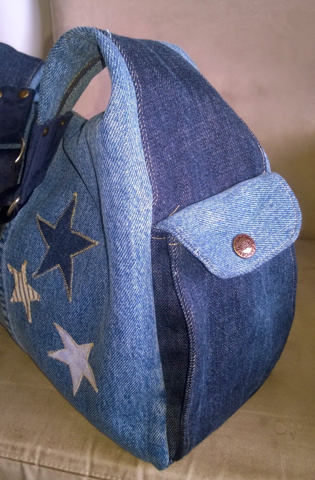 Longchamp hack - recycled denim jeans - kierrätysfarkut