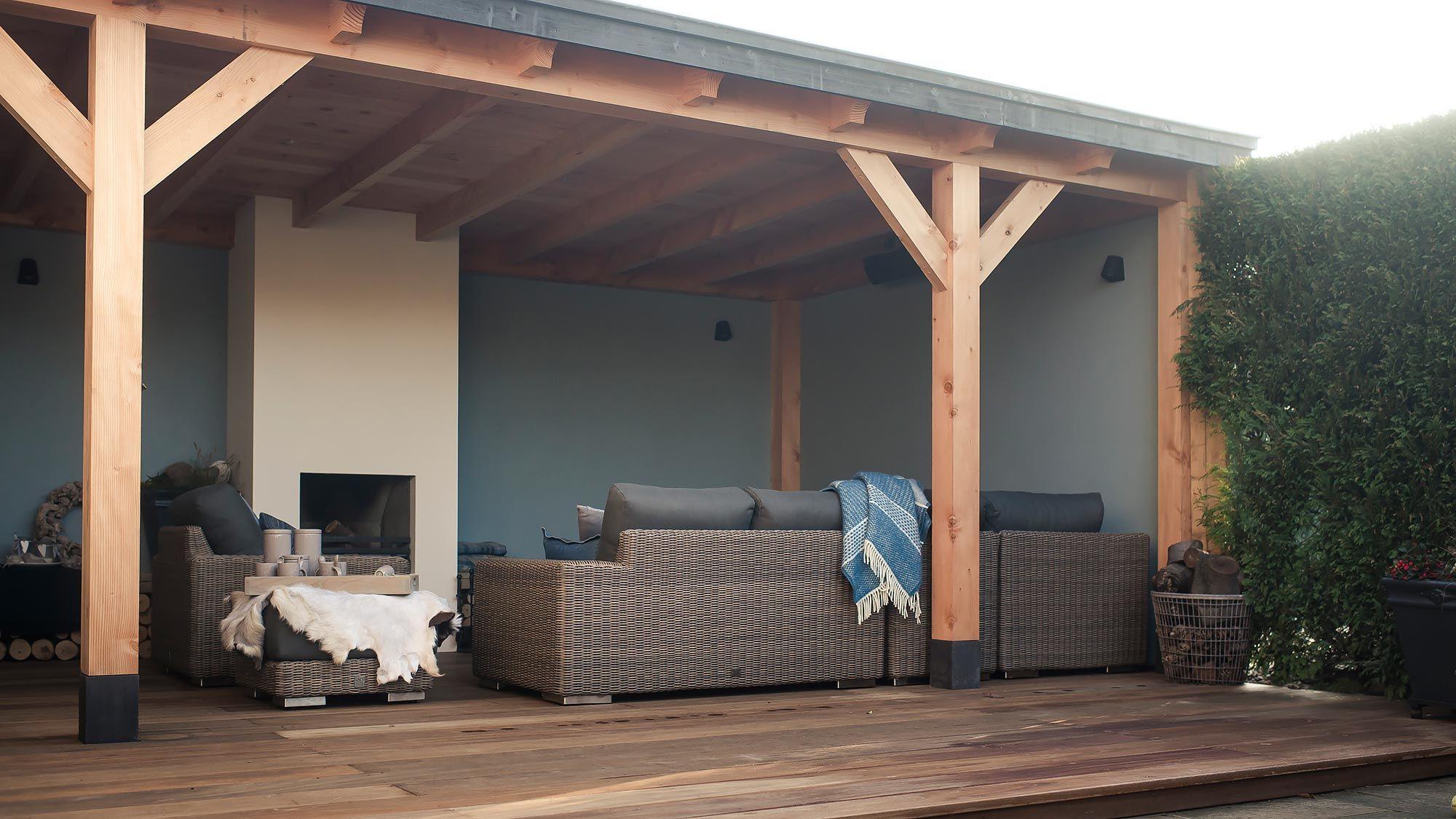 Overkapping hardhouten vlonder houtkachel groesbeek home