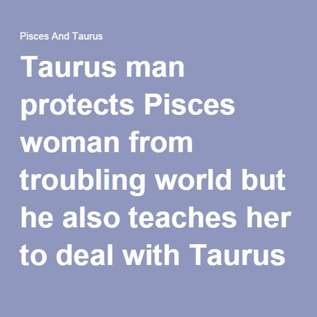 Taurus man hook up