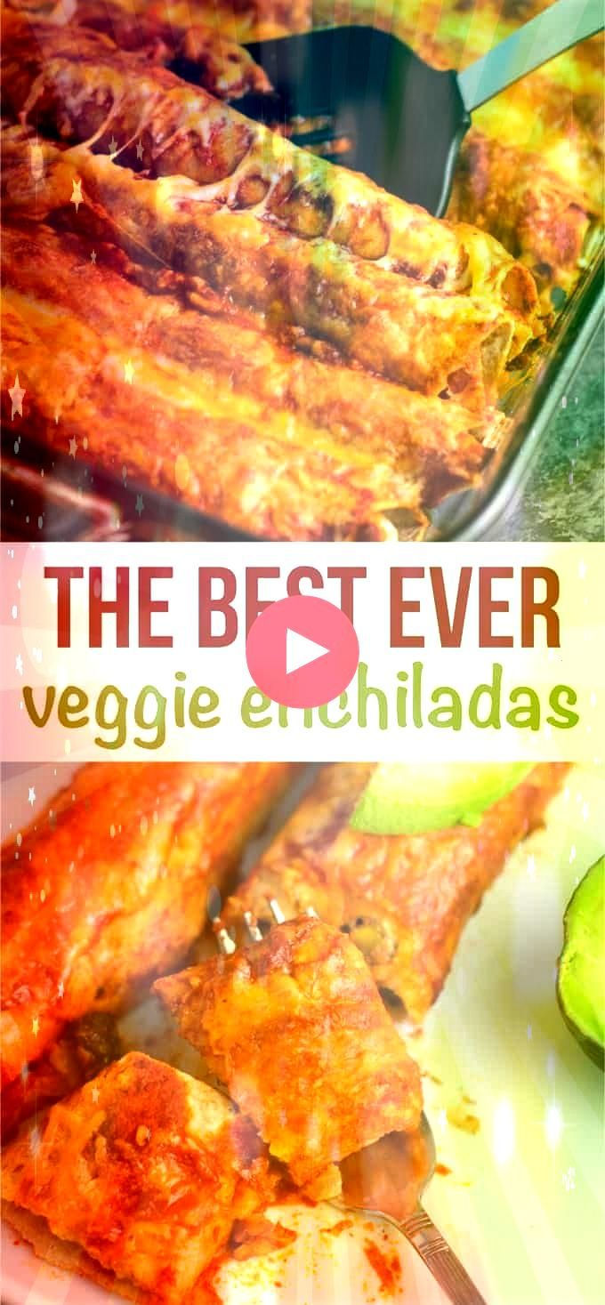 BEST veggie enchiladas  always top with avocado and lime juice for the perfect biteThe BEST veggie enchiladas  always top with avocado and lime juice for the perfect bite...