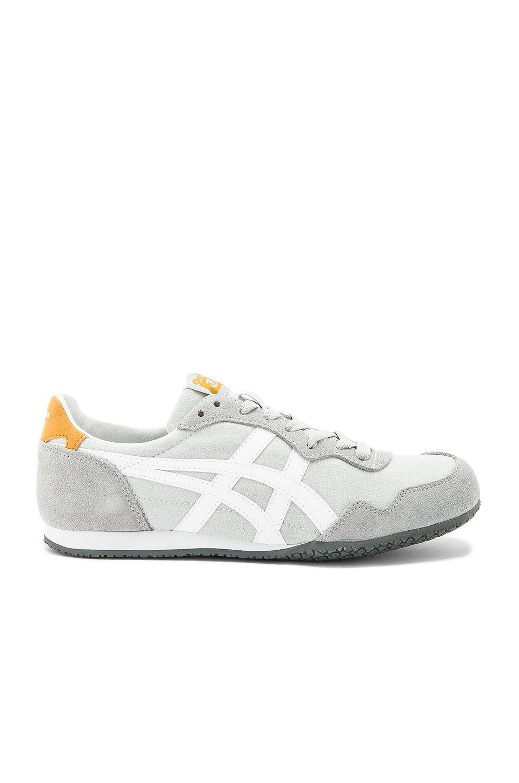 bf0ec7cb75af5 Onitsuka Tiger Serrano Sneaker in Midgrey   White