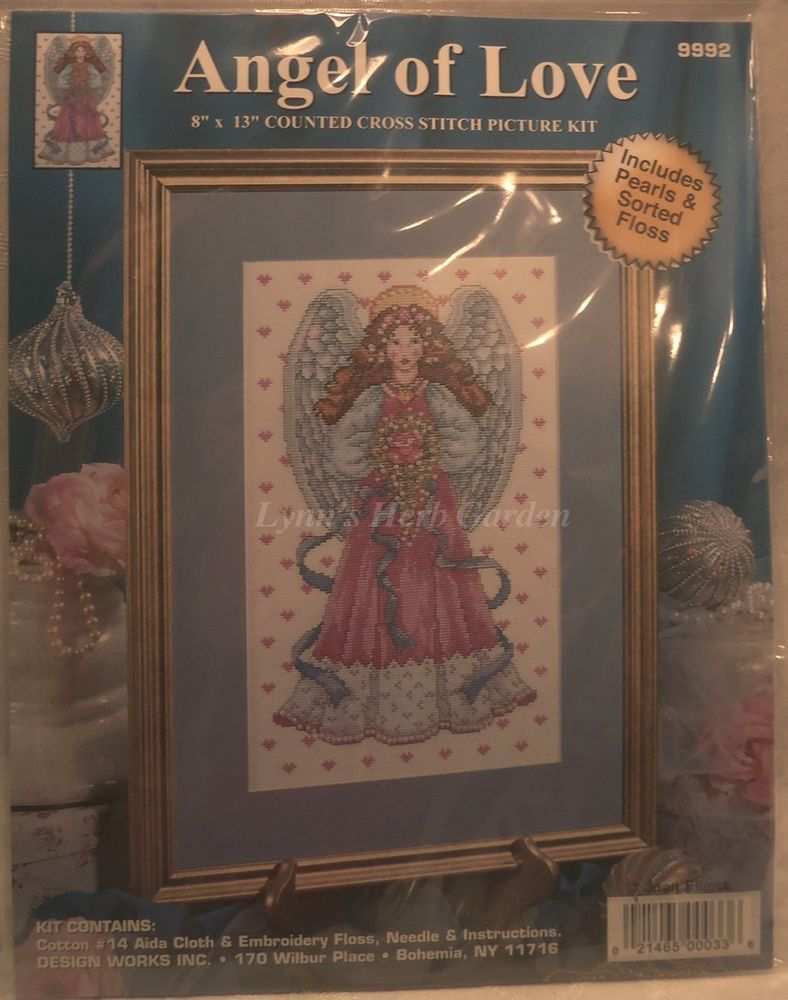 "Angel Of Love Cross Stitch Kit Design Works 8/"" x 13/"" 14 Count"