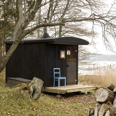 In The Freezing Winter Months This Wooden Sauna On A Finnish Island Can Be  Towed Like