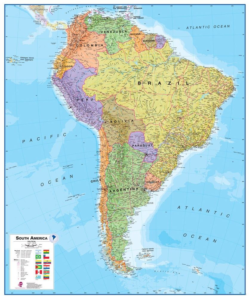Map 9f America.Colombia Map Colombia Satellite Image Physical Political
