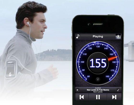 TrailMix iPhone Du Sport avec la Musique au Rythme de