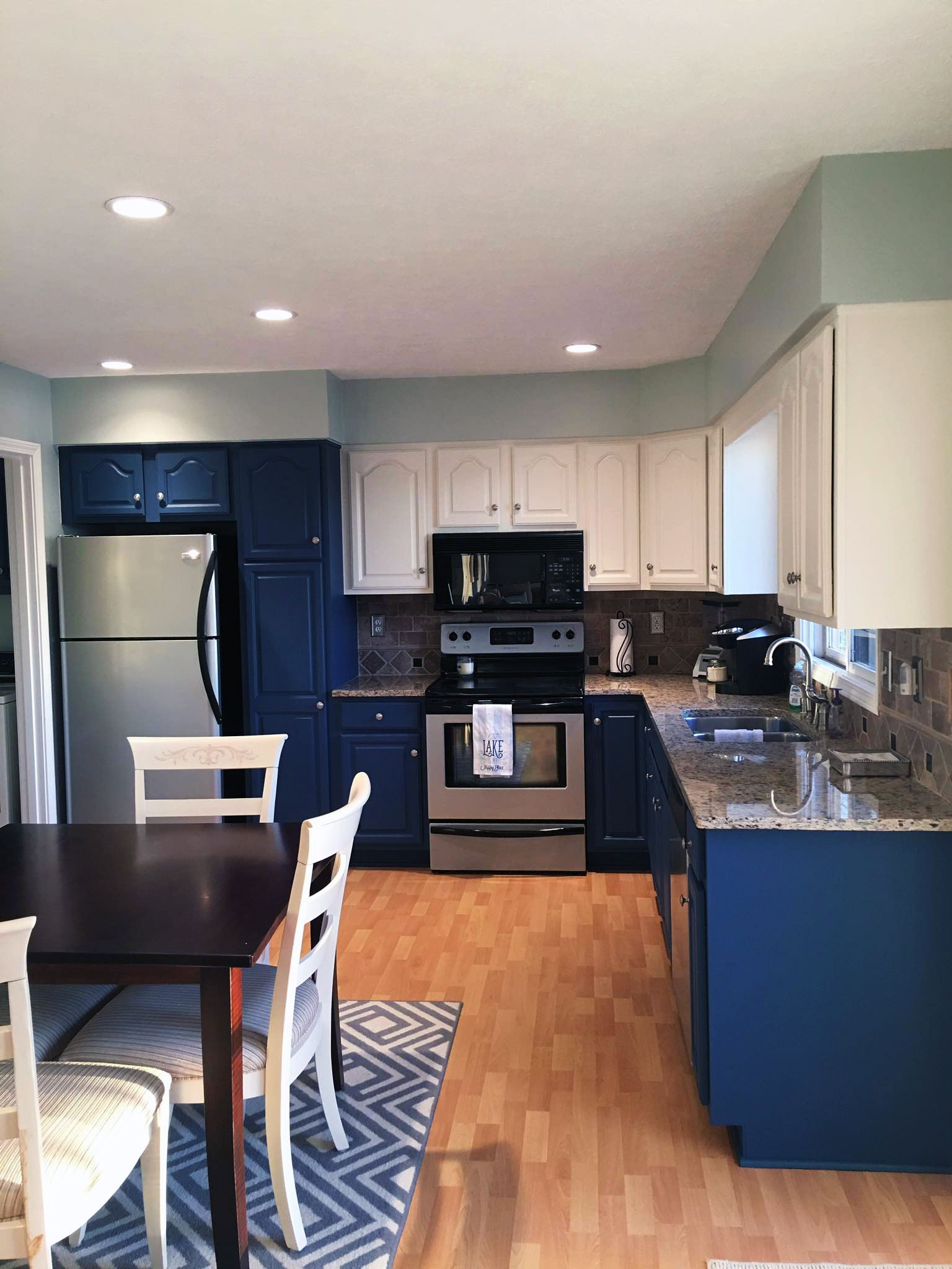 kitchen cabinet makeover in gf custom mixed milk paint colors best kitchen cabinets blue on kitchen ideas colorful id=98564