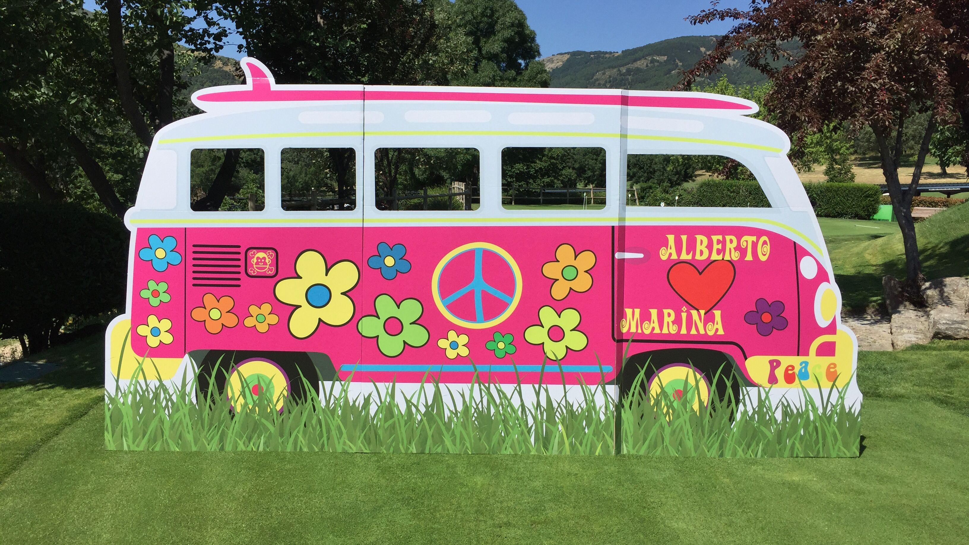 Photocall furgoneta personalizados a tamaño natural para bodas y ...