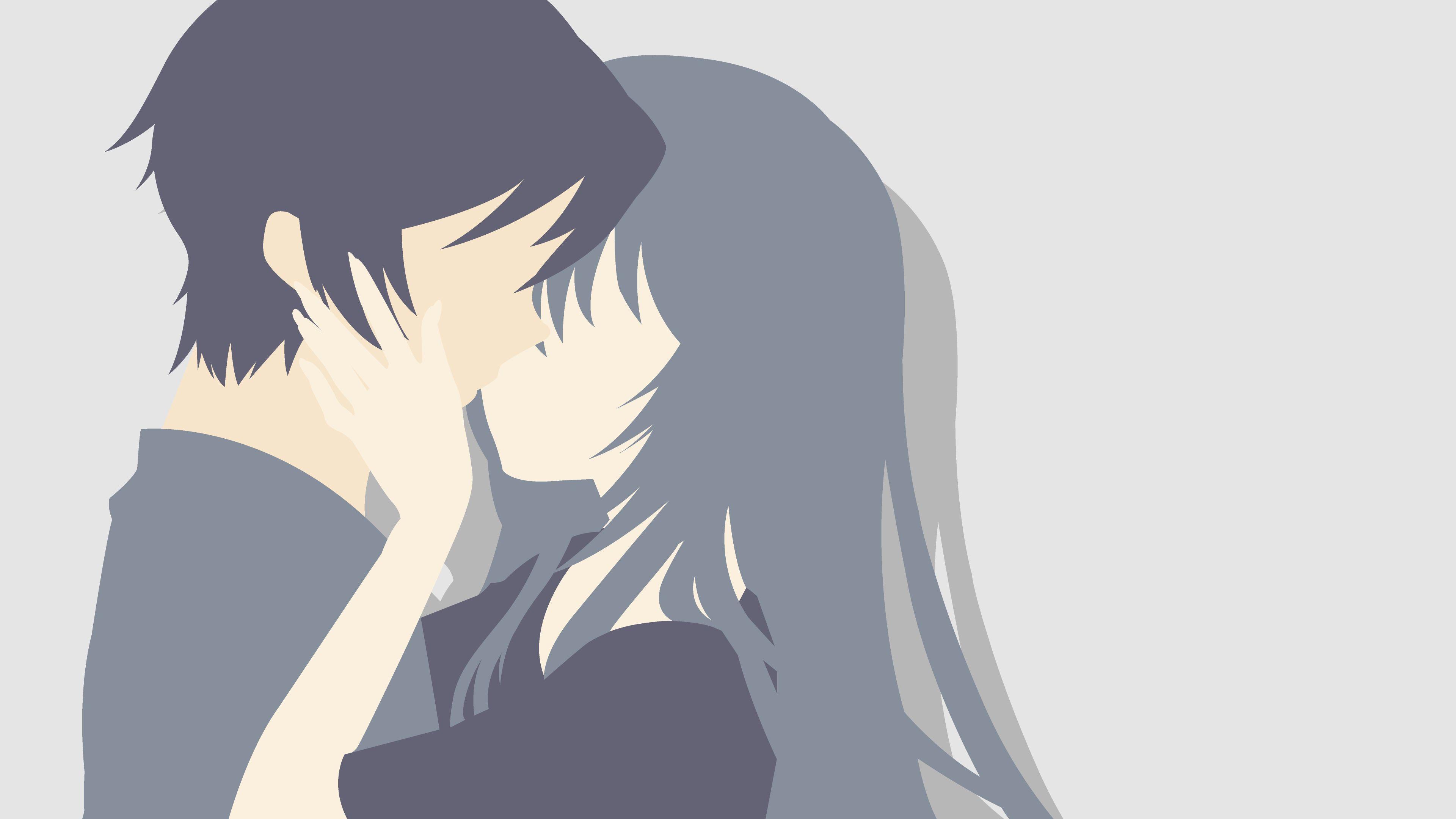Anime Couple Minimalist Wallpaper By Microchokushex The Ancient Magus Bride Anime Anime Minimalist