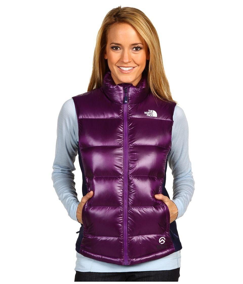 Purple The North Face Crimptastic Down Vest Women S Puffer Coats Down Vest Shiny Jacket [ 1120 x 960 Pixel ]