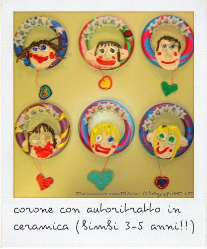 La Tana Creativa: immagini. www.tanacreativa.blogspot.it project kids. Ceramic self-portrait