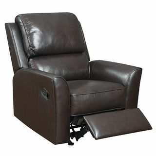 Piper Brown Italian Leather Rocker Recliner Chair   Overstock.com Shopping    Big Discounts On