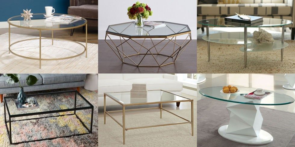 variety of glass coffee tables