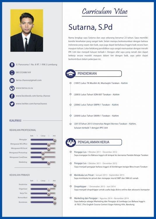 20 Contoh CV dan cara membuatnya yang mudah, menarik, dan