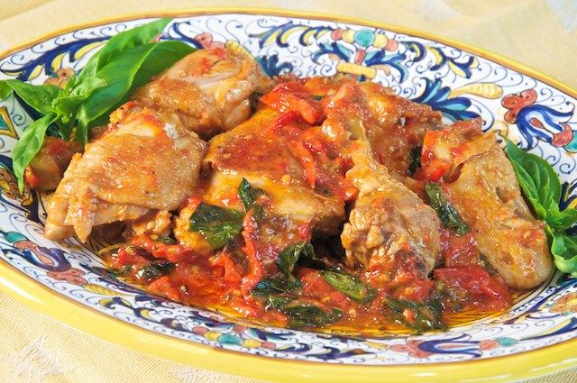 Pollo Allischitana Ischia Style Chicken Recipe Recipes