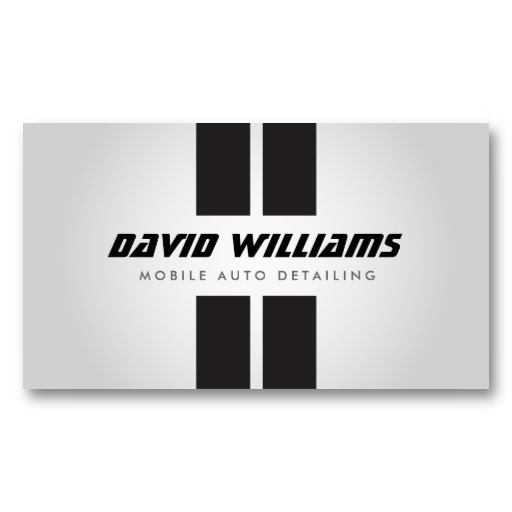 Racing Stripes Gray Black Auto Detailing Repair Business Card Zazzle Com Car Detailing Racing Stripes Auto