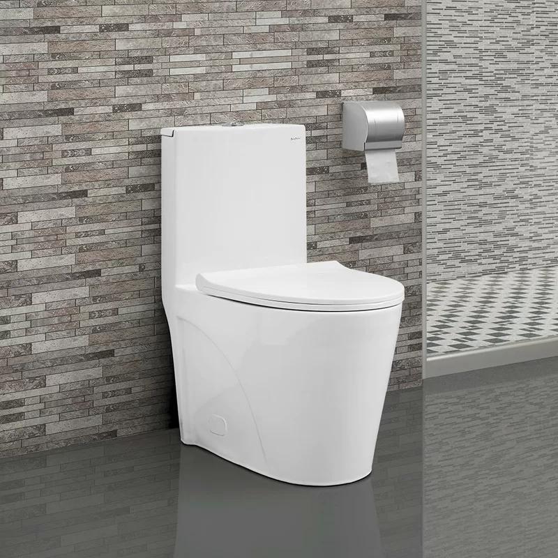 St Tropez Dual Flush Elongated One Piece Toilet Seat Included In 2020 One Piece Toilets Toilet Toilet Seat