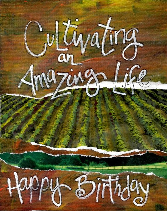 Cultivating An Amazing Lifefarmer Birthday Card Gardeners Birthday
