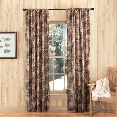 Vue 84 Inch Camo Window Curtain Panel   BedBathandBeyond.com