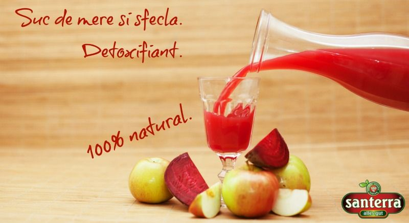 Apple and red beet juice. Detox friendly.