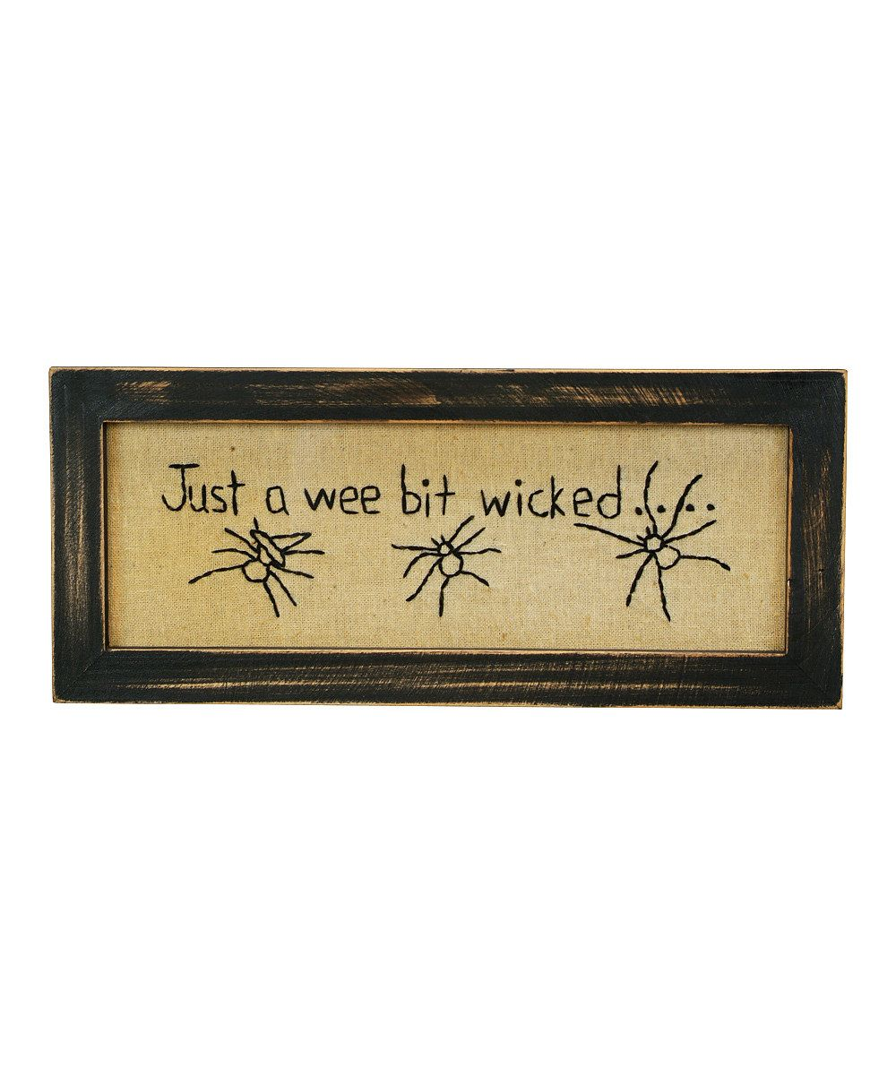 Just a Wee Bit Wicked\' Stitchery Wall Art | Halloween | Pinterest