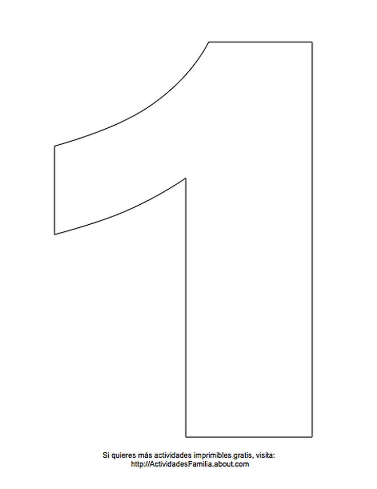 Dibujos De Números Para Colorear Número 1 Para Colorear Cosas