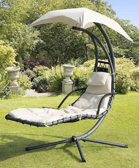 Beige Helicopter Swing Chair This Is Looking Pretty Comfy Swinging Chair Porch Swing With Stand Backyard