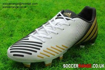 san francisco ed7c4 3ac95 Adidas Predator LZ TRX FG Soccer Cleats White Gold Black Adidas Predator Lz,
