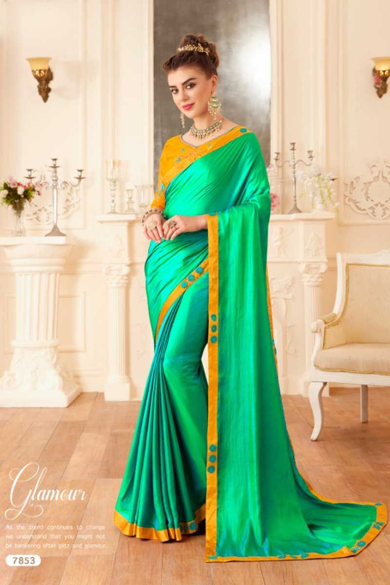 Yellow chiffon saree,,,,bridesmaid sari,,,,ceremony saree