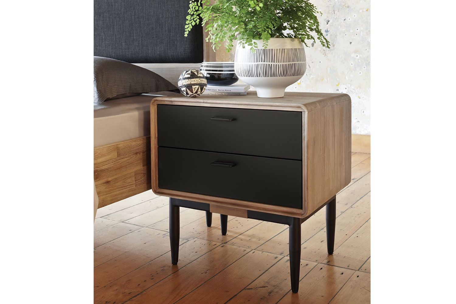 Alba Bedside Table by John Young Furniture  Small bedside table