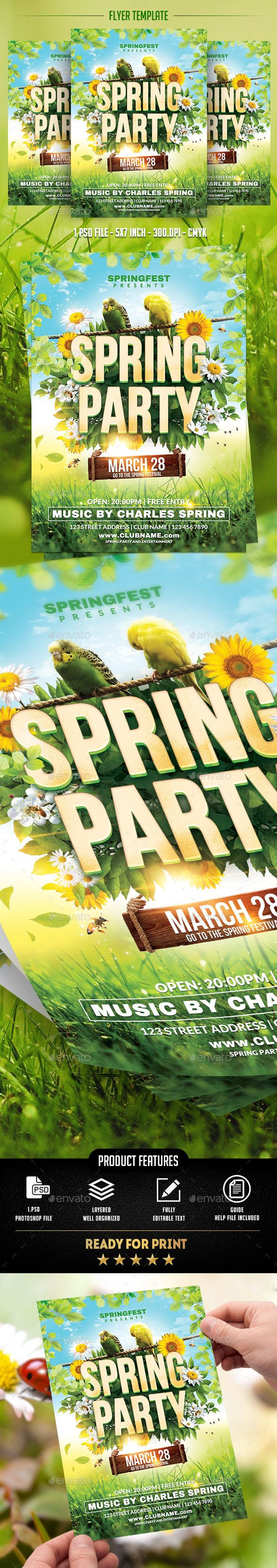Spring Party Flyer Template  Party Flyer Flyer Template And Template