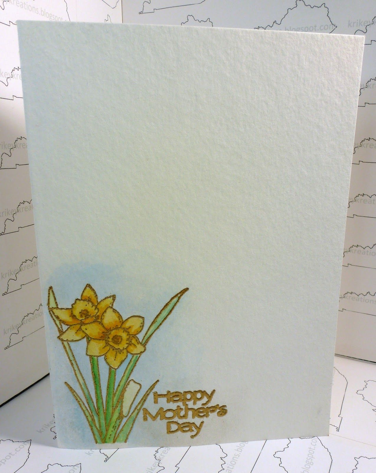 A handmade watercolor mothers day card measuring 5 6 78127 mm a handmade watercolor mothers day card measuring 5 6 78127 mm 175 mm using card stock strathmore watercolor greeting cards stamps gina k kristyandbryce Choice Image