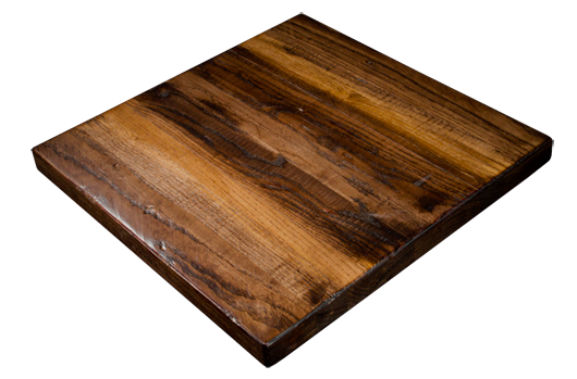 Our popular heavy distressed, random width, solid ash table