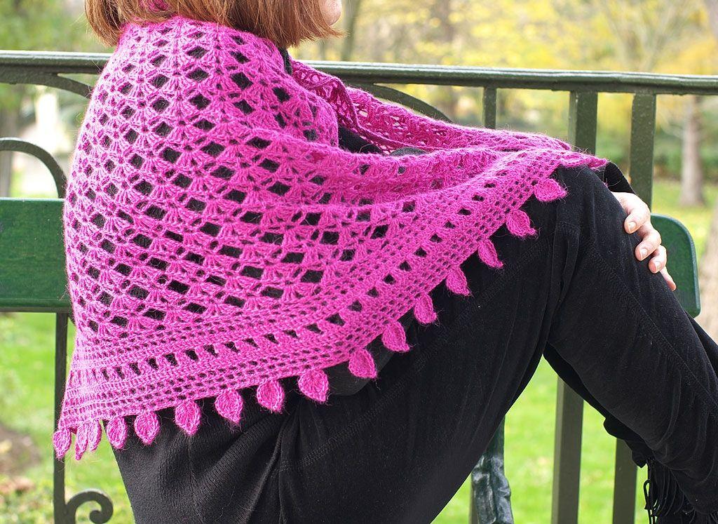 Easy Crochet Shawl Crafthubs Scarves 2 Pinterest Crochet