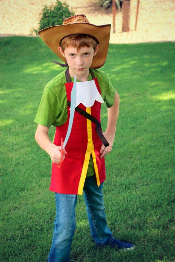 CAPTAIN HOOK Disney Junior Jr. inspired Costume Apron. Adult Men/ Teen sizes 28