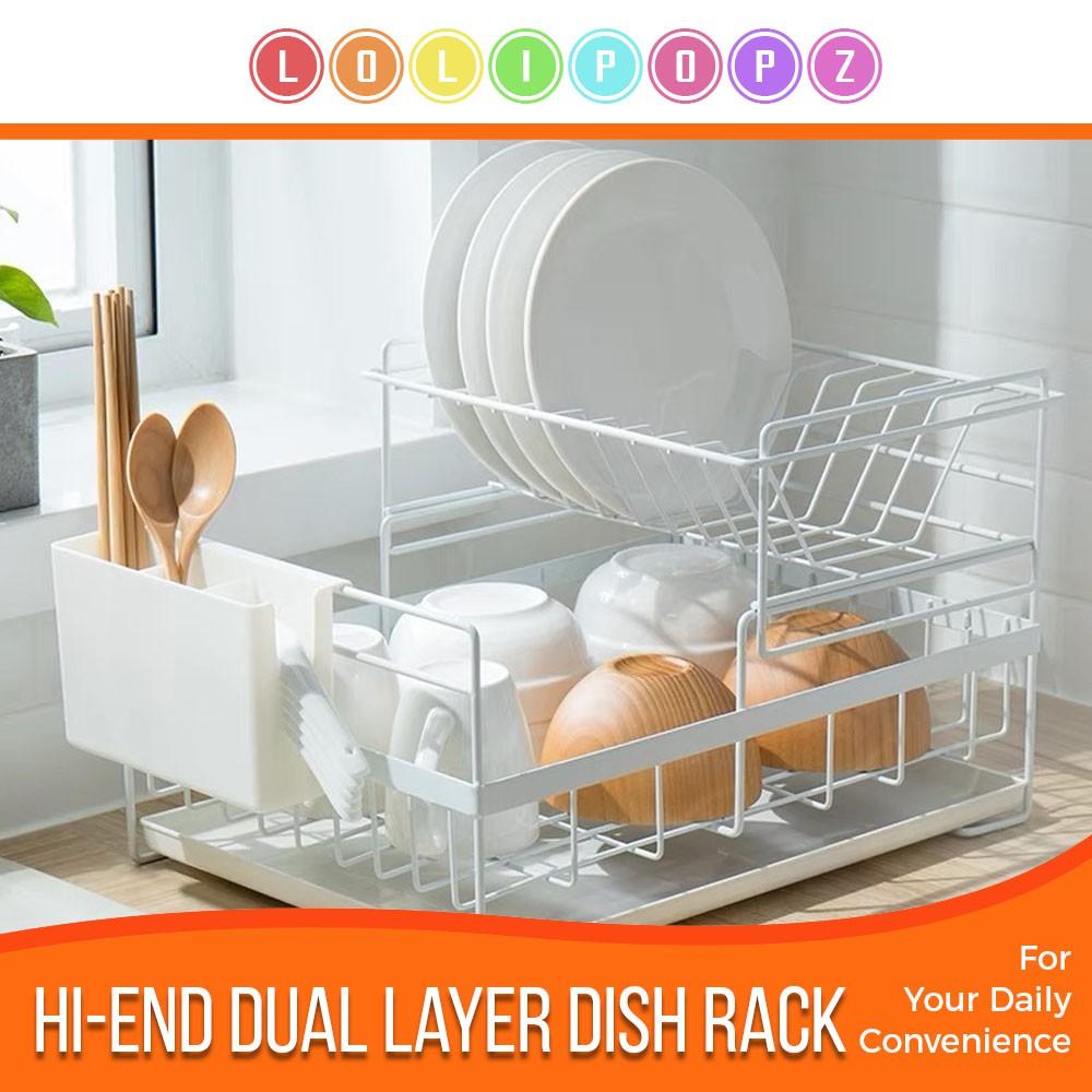 High End Dual Layer Drying Dish Rack