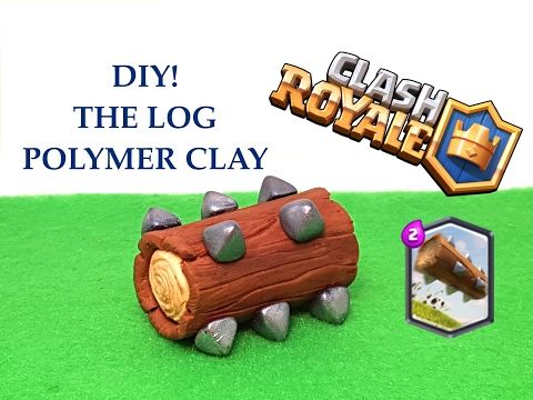 diy clash royale the log legendary card polymer clay tutorial youtube porcellana. Black Bedroom Furniture Sets. Home Design Ideas