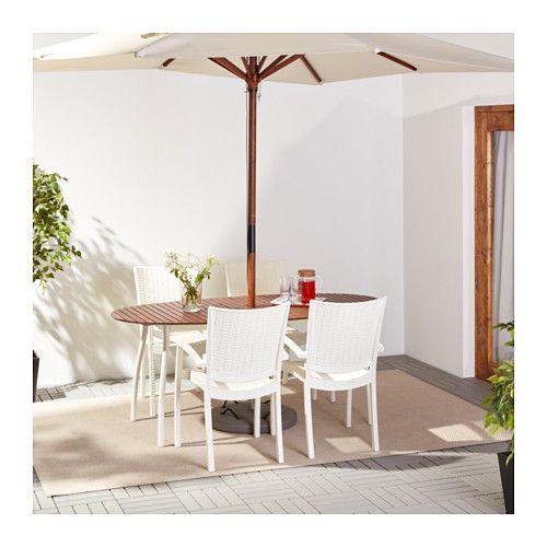 VINDALSÖ / INNAMO Bord+4 stole med armlæn, ude  - IKEA