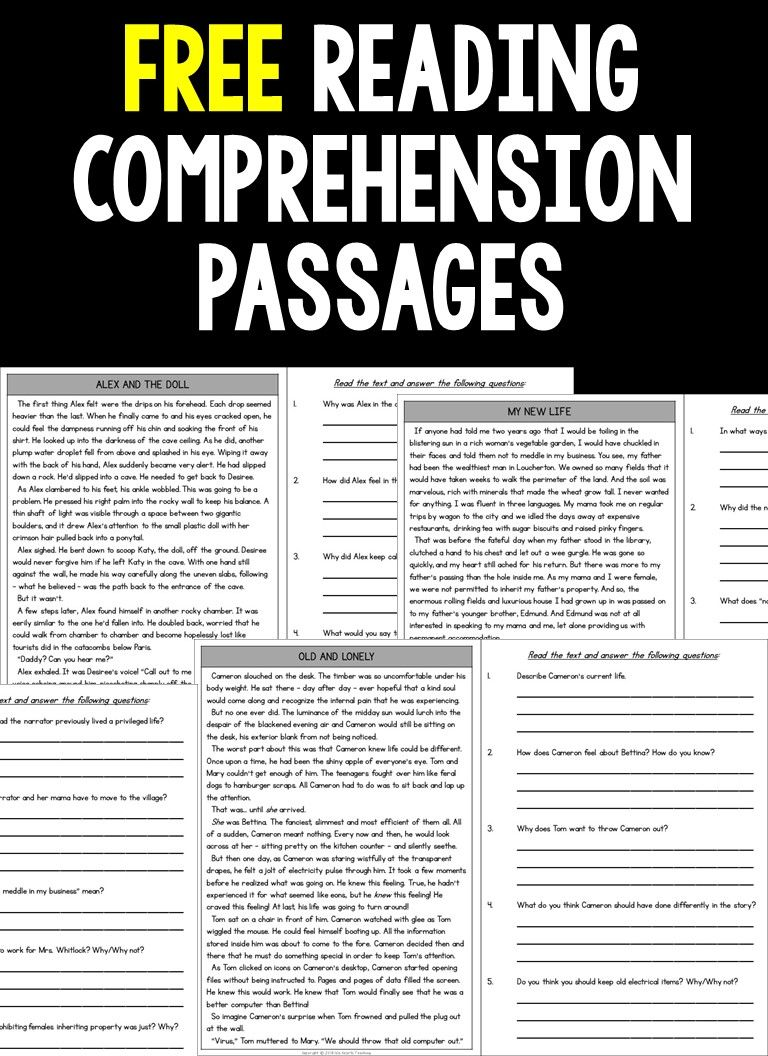 - FREE Reading Comprehension Passages And Questions (4th Grade Free