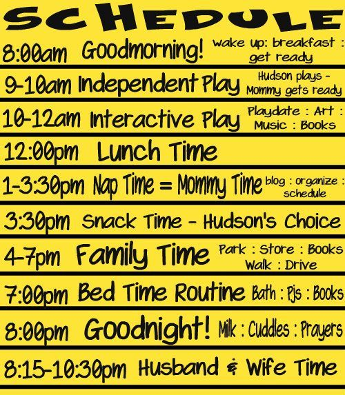 Toddler Schedule Now That The Holidays Are Over I Would Like To