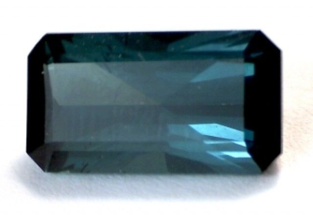 4.34ct Emeral Cut Indicolite (Blue) Tourmaline VVS RA006  BLUE COLOR TOURMALINE GEMSTONE WELL POLISHED