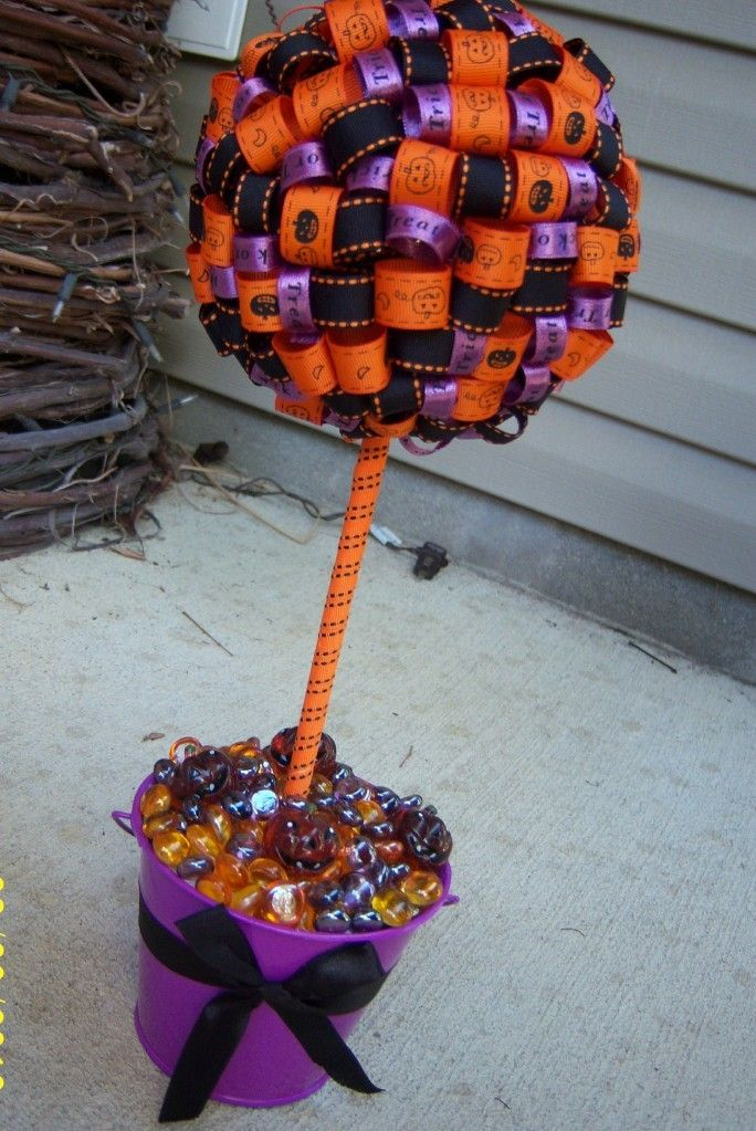 Halloween Ribbon Topiary SALE by PrincessHaylee on Etsy, $2240
