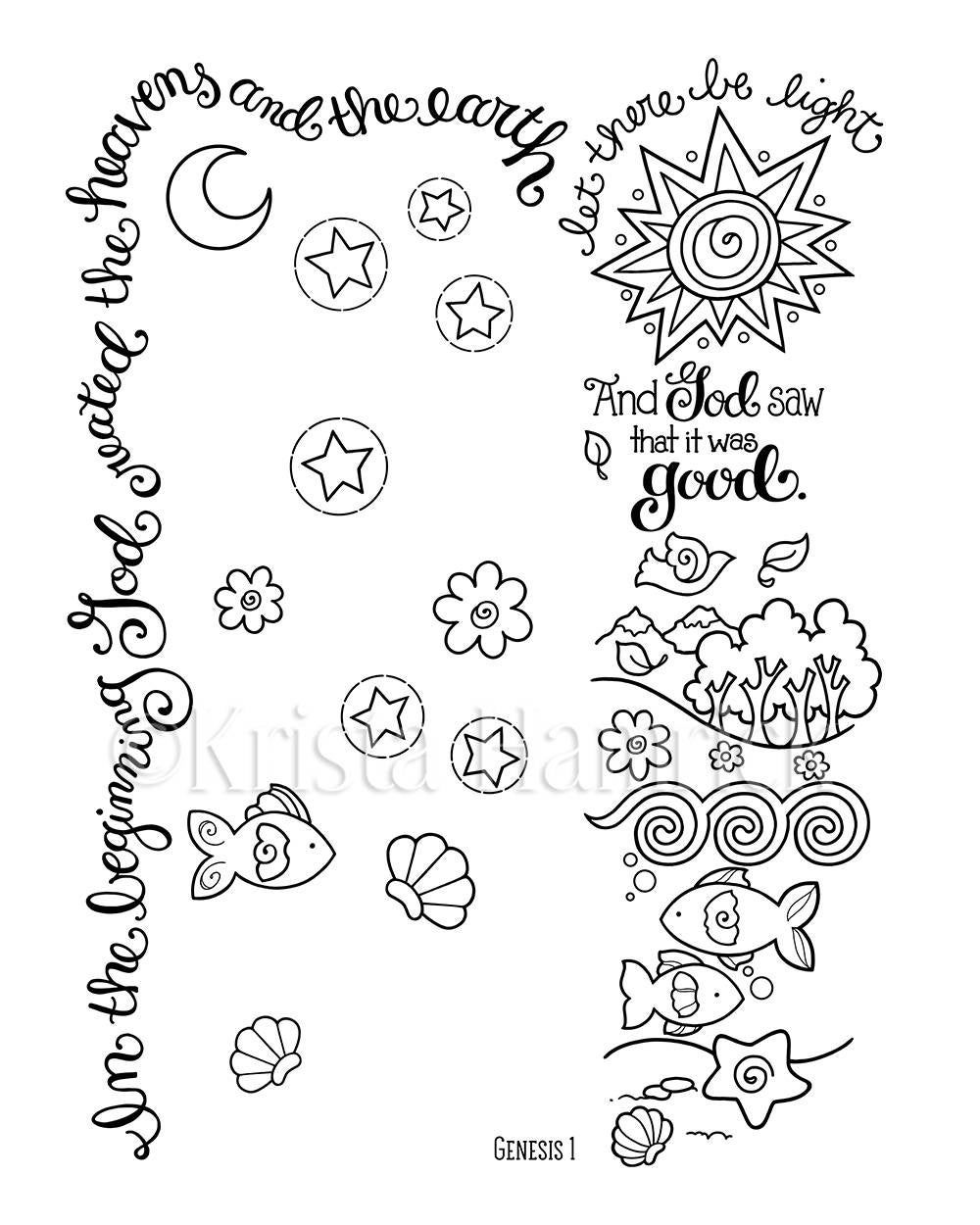 34+ Creation coloring pages pdf info