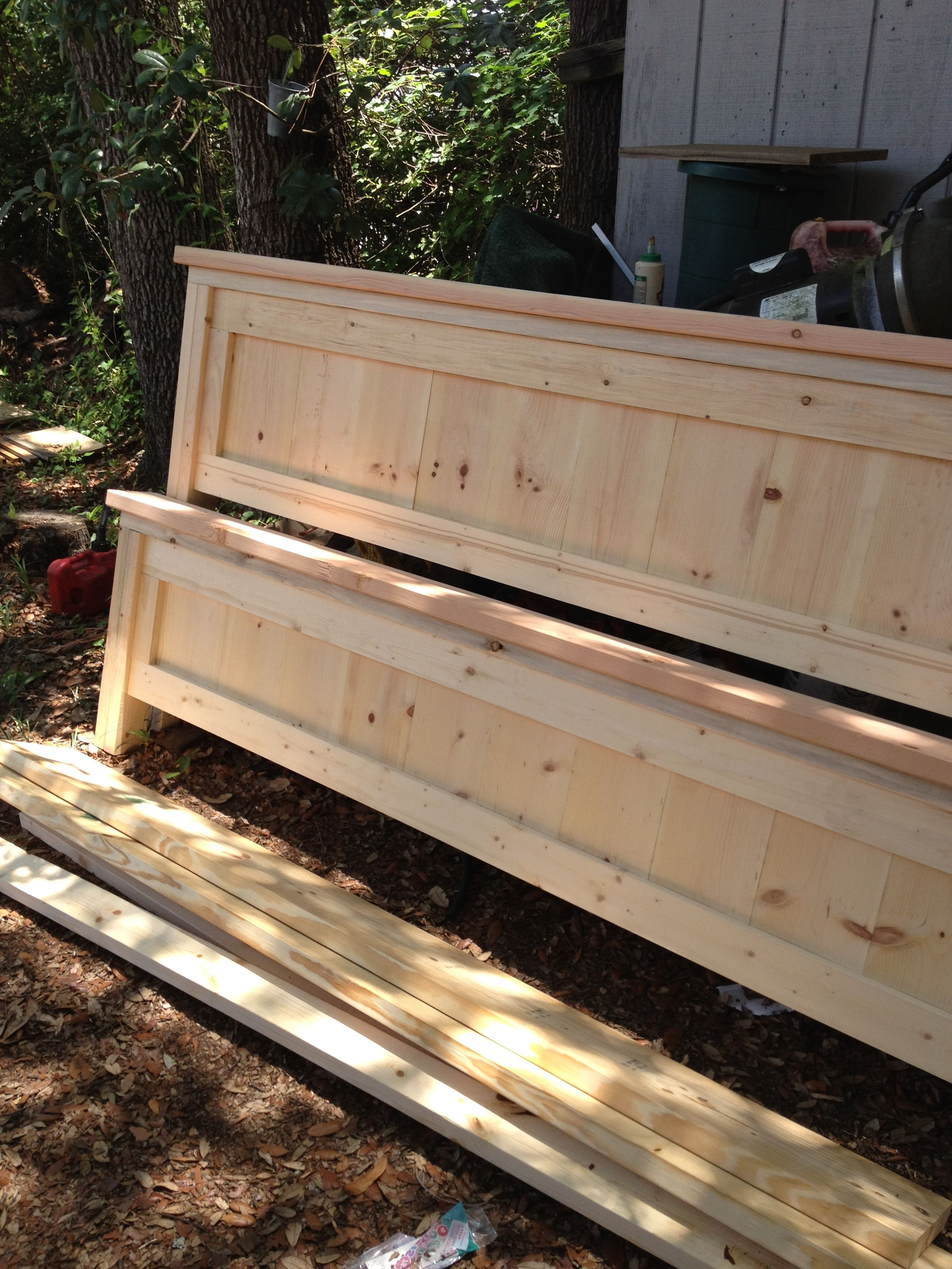 King sized Bed Frame I built... Ana-White.com is the place to find ...